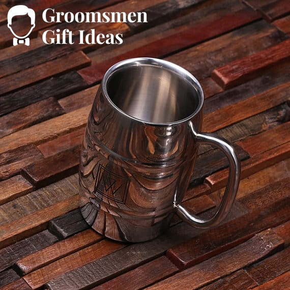 Personalized Stainless Steel Beer Mug – 14 oz.