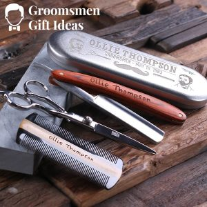Scissors & Sharpening Stones Groomsmen Gift