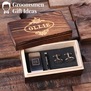 Tie Clip and Wood Box