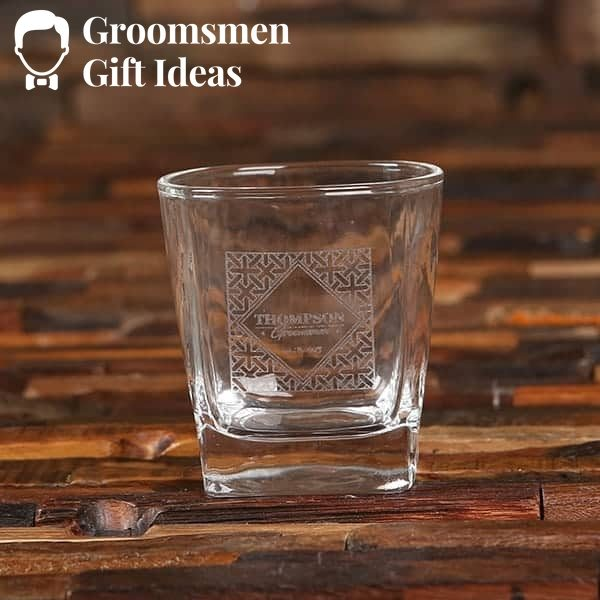 Personalized Decanter and Whiskey Glass Groomsmen Gift Set
