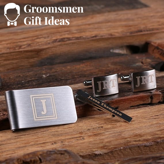 Personalized Gentleman's Gift Set Cuff Links