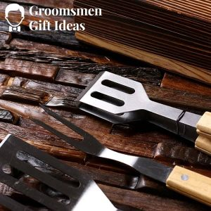 4pc Personalized Grill Tool Set Barbecue BBQ Customized Family Grill Holiday Gift Set Monogrammed