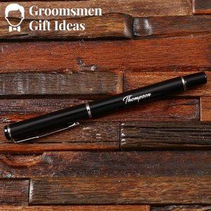Personalized Notebook & Pen Groomsmen Gift Set Idea