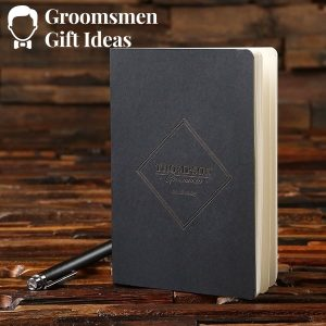 Personalized Notebook & Pen Groomsmen Gift Set Idea