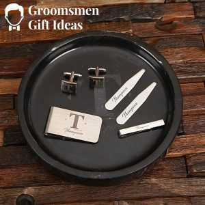 Personalized Modern Gentleman Accessory Groomsmen Gift Set