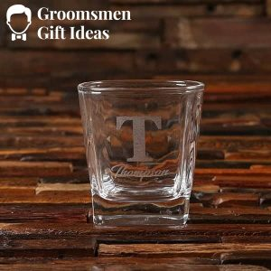 Complete Bar Mixologist & Rocks Glass Groomsmen Gift Set Idea