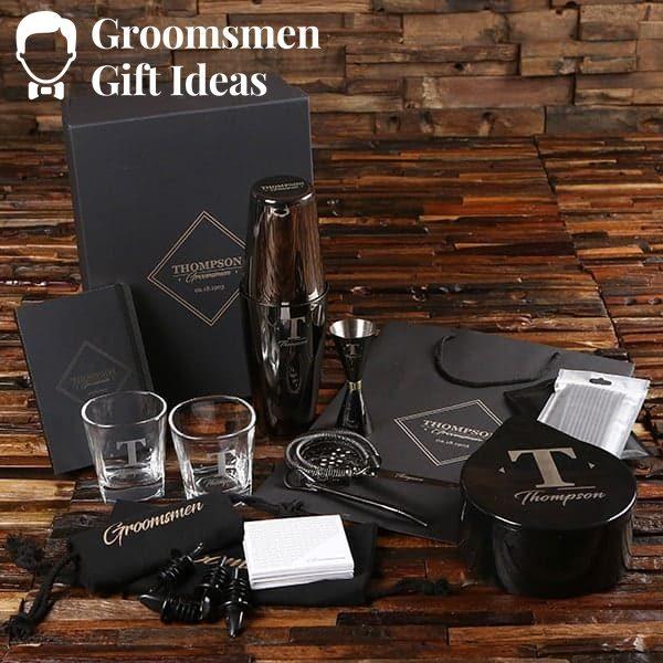 Complete Bar Mixologist & Rocks Glass Groomsmen Gift Set Idea
