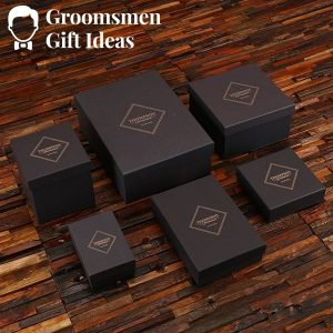 Shot Glass & Metal Tray Groomsmen Gift
