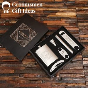 Personalized Drinks & Cigar Gentlemen's Accessory Gift Set