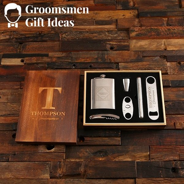 Personalized Drinks & Cigar Gentlemen's Accessory Gift Set – LITE